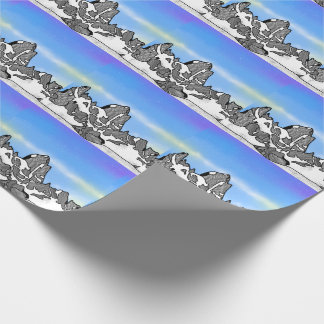 Monte Fitz Roy Mountain Landscape Wrapping Paper