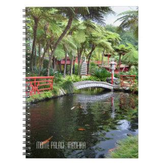 Monte Palace Tropical Gardens Madeira Portugal Notebook