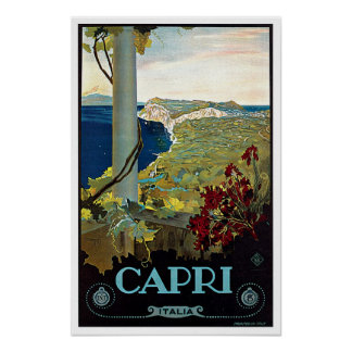 Montecatini Tuscany Italy Vintage Travel Poster