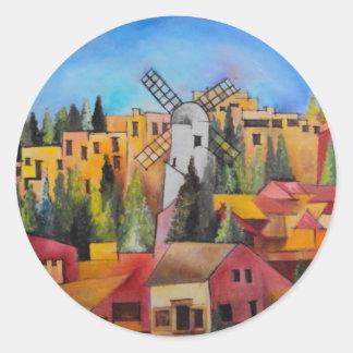Montefiore Windmill Round Sticker
