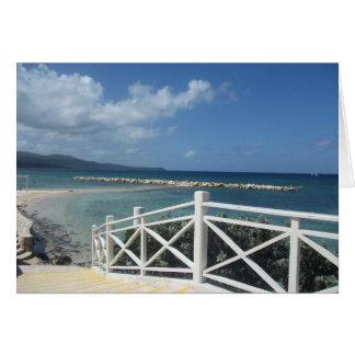 Montego Bay Beach, Jamaica Card
