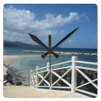 Montego Bay Beach, Jamaica Clock