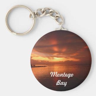 Montego Bay Jamaica Sunset Photo Keychain
