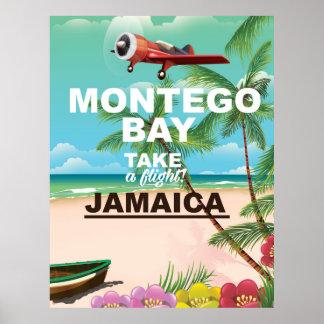 Montego Bay Jamaica vintage travel poster
