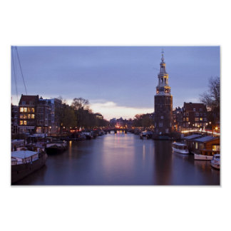 Montelbaan tower in Amsterdam the Netherlands Poster