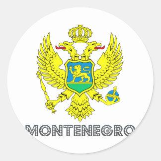 Montenegrin Emblem Classic Round Sticker