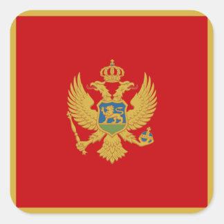 Montenegrin Flag Square Sticker