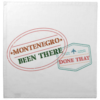 Montenegro Been There Done That Napkin