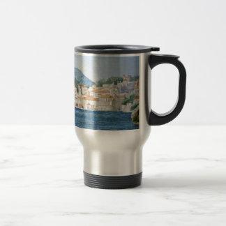 Montenegro Budva watercolor landscape panorama Travel Mug