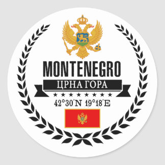 Montenegro Classic Round Sticker