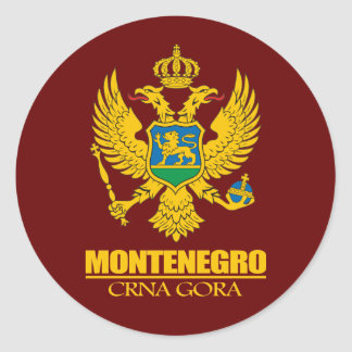 Montenegro COA Classic Round Sticker