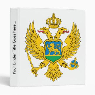 Montenegro Coat of Arms detail Vinyl Binders