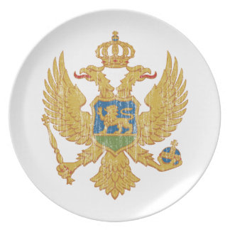 Montenegro Coat Of Arms Dinner Plate