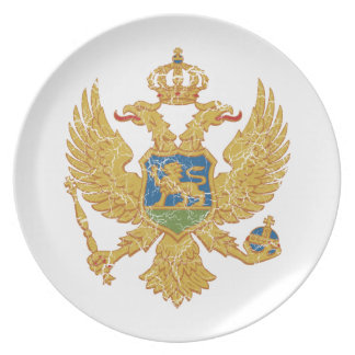 Montenegro Coat Of Arms Party Plates