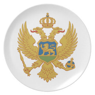Montenegro Coat Of Arms Plate