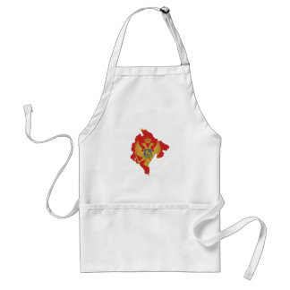 montenegro country flag map shape symbol standard apron