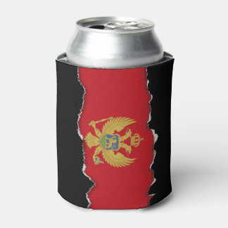 Montenegro flag can cooler