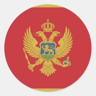 Montenegro Flag Classic Round Sticker