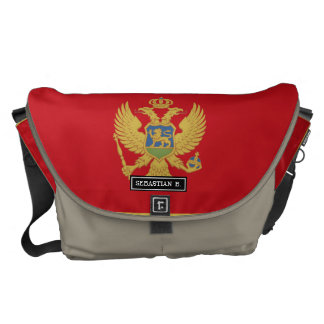 Montenegro flag courier bags