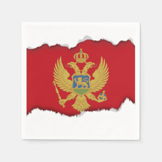 Montenegro flag disposable napkins