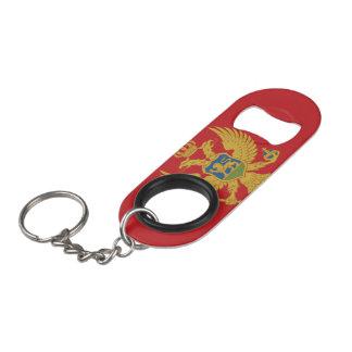 Montenegro Flag Keychain Bottle Opener