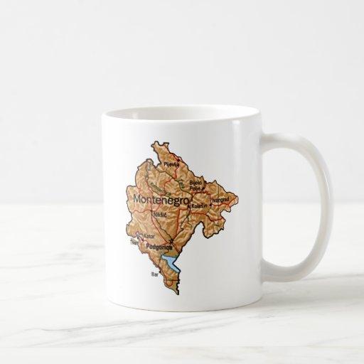 Montenegro Flag ~ Map Mug