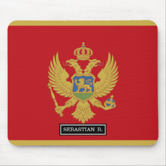 Montenegro flag mouse pad