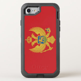Montenegro Flag OtterBox Defender iPhone 8/7 Case