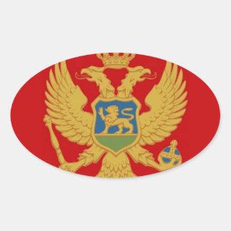 Montenegro Flag Oval Sticker
