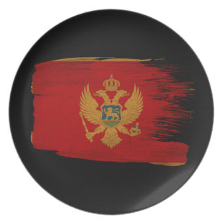 Montenegro Flag Party Plate
