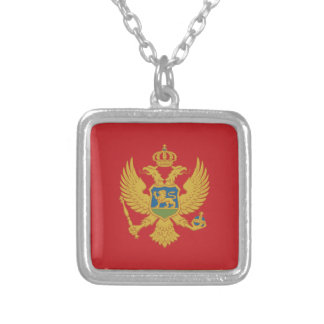 Montenegro Flag Silver Plated Necklace