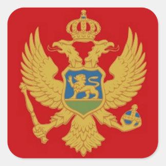 Montenegro Flag Square Sticker