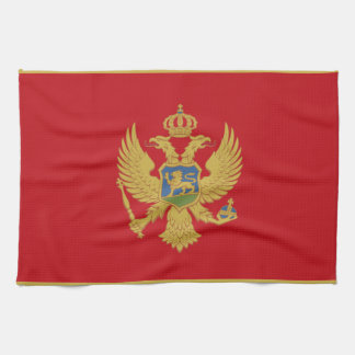 Montenegro flag towels