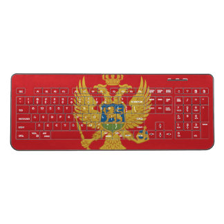 Montenegro Flag Wireless Keyboard