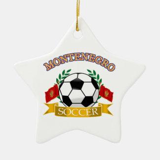 Montenegro soccer ball designs ceramic ornament