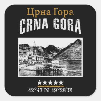 Montenegro Square Sticker