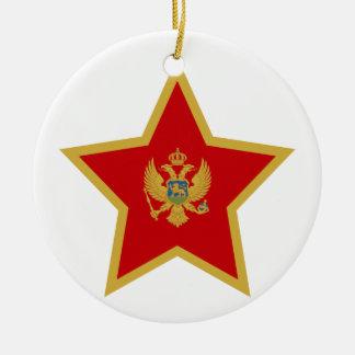 Montenegro Star Ceramic Ornament