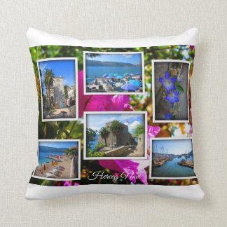 Montenegro Travel Collection – Herceg Novi Throw Pillow