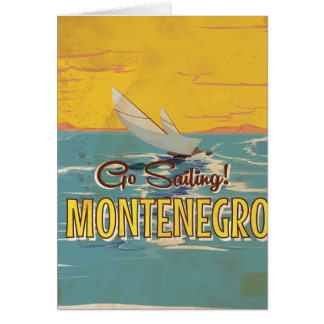 Montenegro vintage travel poster card