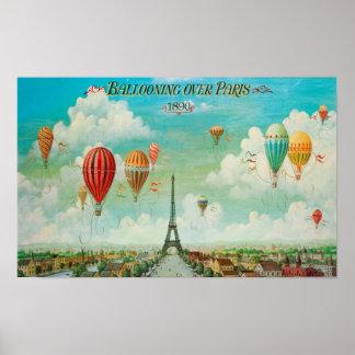 Monter en ballon au-dessus de l'affiche de Paris Poster