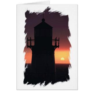 Montera Lighthouse Sunset Pacific Coast California Card