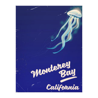 Monterey Bay California Jelly vintage travel Canvas Print