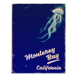 Monterey Bay California Jelly vintage travel Poster