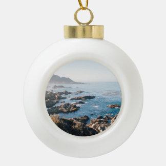 Monterey bay ceramic ball ornament