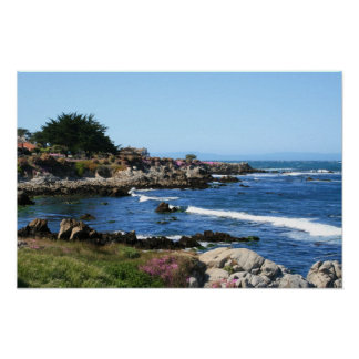 Monterey Bay Coastline Photo (3 of 6) Poster