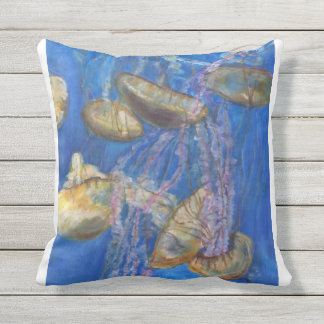 Monterey Bay Jelly Fish Outdoor Pillow