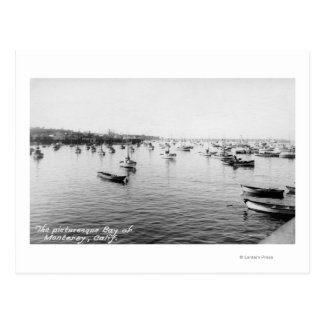 Monterey, CA - Bay with Hundreds of Wooden Boats Postcard