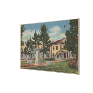 Monterey, CA - Colton Hall View and Grounds Stretched Canvas Print