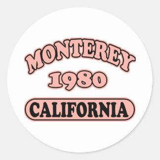 Monterey,Ca -- T-Shirt Classic Round Sticker