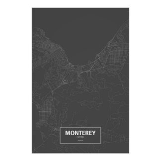 Monterey, California (white on black) Poster